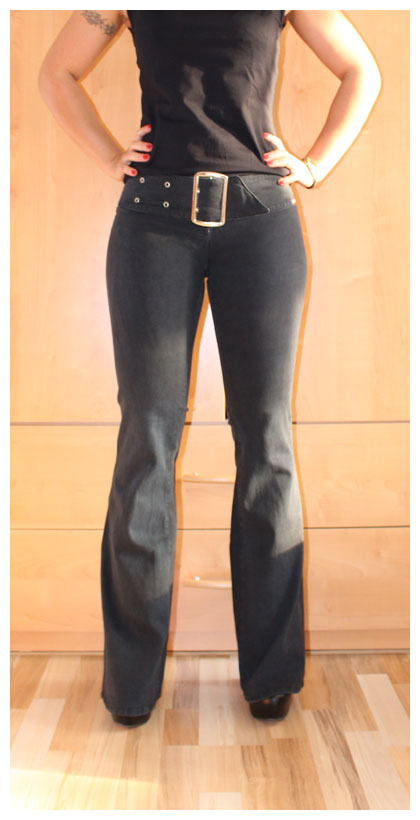 miss sixty jeans oneway w28 stretchjeans skinny bootcut schwarz 2132 ebay. Black Bedroom Furniture Sets. Home Design Ideas