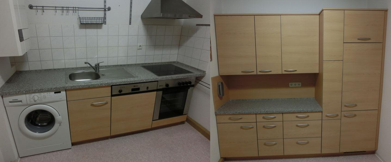 Küche Einbauküche Nobilia in Edelbuche mit Elektrogeräten Küchenzeile komplett eBay